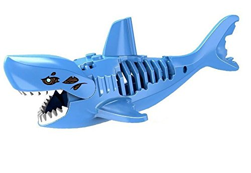 Etsy Star Wars Costumes - Shalleen 1X Blue Zombie Shark Figure Set Pirates of the Caribbean Bricks Blocks Toy