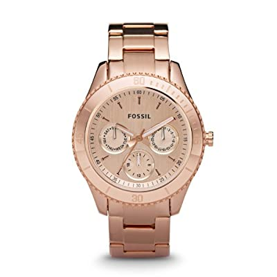 Fossil ES2859 Stella Plated Stainless Steel Watch - Rose