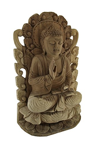 Carved Wood Statue (Meditating Buddha Hand Carved Wood Wall)