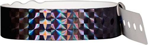 (Wristband Giant PlasticTechno Wristbands box of 100 (Black))