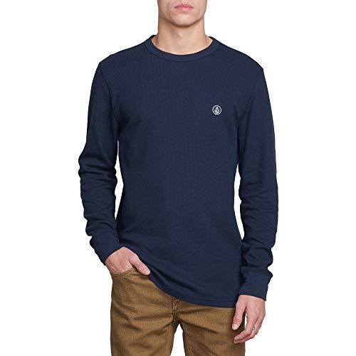 Volcom Men's Juan Largo Long Sleeve Thermal Shirt Navy