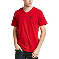 True Religion Men's Solid Logo V-Neck Tee