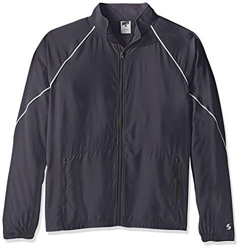 Soffe Men's Adlt Warm Up Jacket, Gunmetal, Large