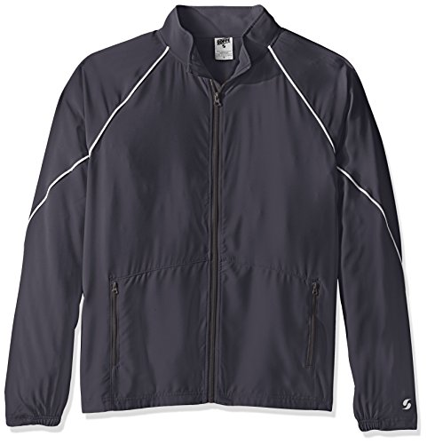 Soffe Men's Adlt Warm Up Jacket, Gunmetal, Large (Up Male Jacket Warm)