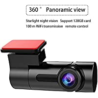 Driving Recorder, Full HD 1080P Night Vision 360 Degree Panoramic Hiding Driving Recorder for Mobile Phone Monitoring, WDR Dashboard Camera DVR Camcorder G Sensor Parking Security and Loop Recording