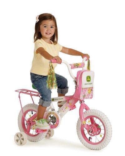 "John Deere 12"" Bicycle, Pink"
