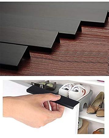 noir KFZ Lot de 10 boutons de porte pour tiroir de placard avec poign/ée dissimul/ée invisible//dissimul/ée DJH8850