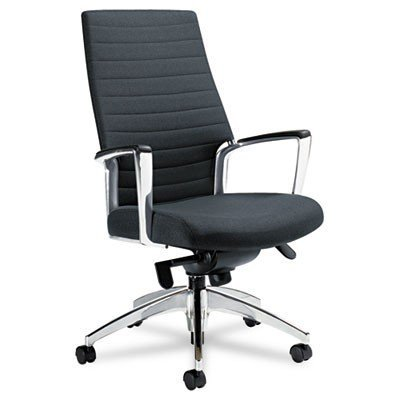 2670LM445055 - Accord Series High-Back Tilt Chair, Leather/Mock Leather, Black