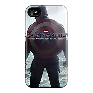 Apple Iphone 4/4s KUC14026gyWg Provide Private Custom High Resolution Captain America The Winter Soldier Pattern Durable Hard Cell-phone Cases -JamieBratt