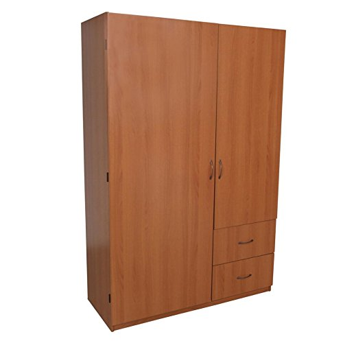 Home Source Volker Cherrry 2 Door Wardrobe with 2 Drawers from Home Source Industries