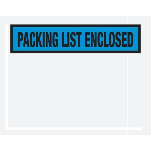 Box Partners Packing List Enclosed Panel Face 4.5 x 5.5 Case of 1000