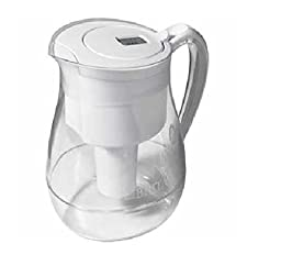 Brita Water Filter Pitcher, Monterey Model, 2 Filters, 10 Cup Capacity (White)