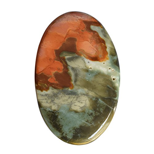 (Natural Wild Horse Jasper Cabochon, Size 46X29X5 MM, Jewelry Component,From Native American AG-7175)