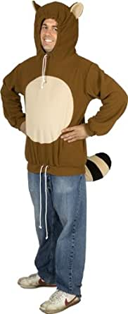 80sTees Men's Racanooki Costume Hoodie - Small