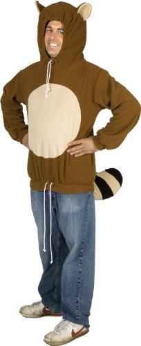 [80sTees Men's Racanooki Costume Hoodie - Small] (Tanooki Mario Costume)