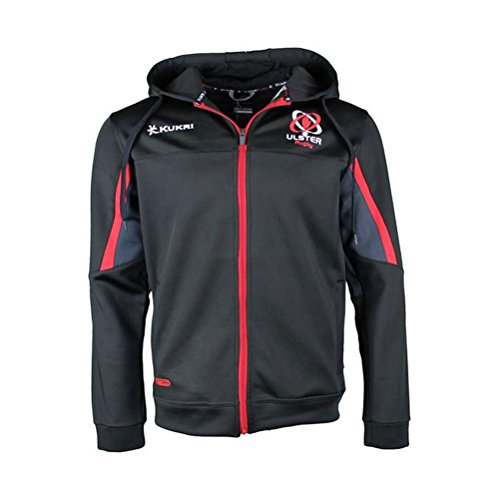 KUKRI ulster rugby blast fleece hoodie 2017/18 [black/white/red]-Medium
