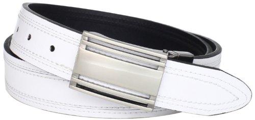 PGA TOUR Men's Reversible Belt, White/Black, 36