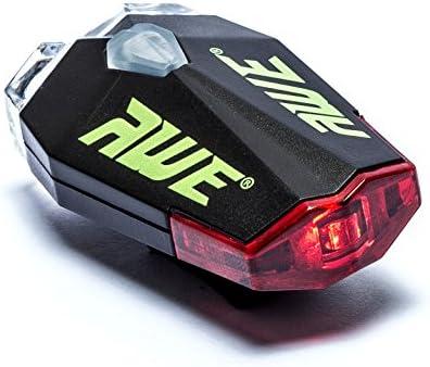 AWE/® AWEDual 360/°/™ USB Rechargeable v/élos Jumeaux Casque Lumi/ère Avant//arri/ère 40 Lumens