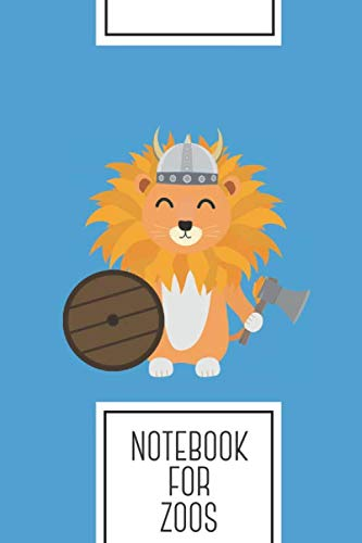 (Notebook for Zoos: Lined Journal with Lion viking with helmet Design - Cool Gift for a friend or family who loves head presents! | 6x9