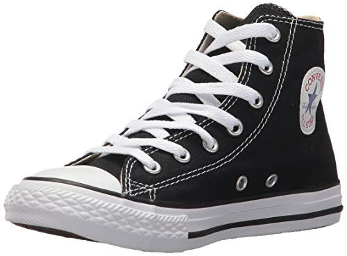 Converse Kid's Chuck Taylor All Star High Top Shoe, Black, 3 Little Kid (4-8 -