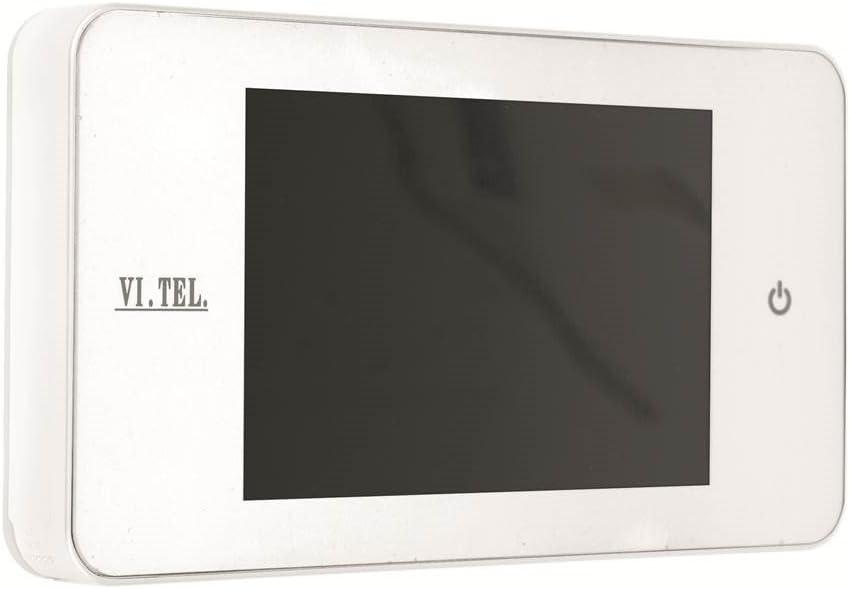 Spioncino elettronico bianco con Display VI.TEL. E0378