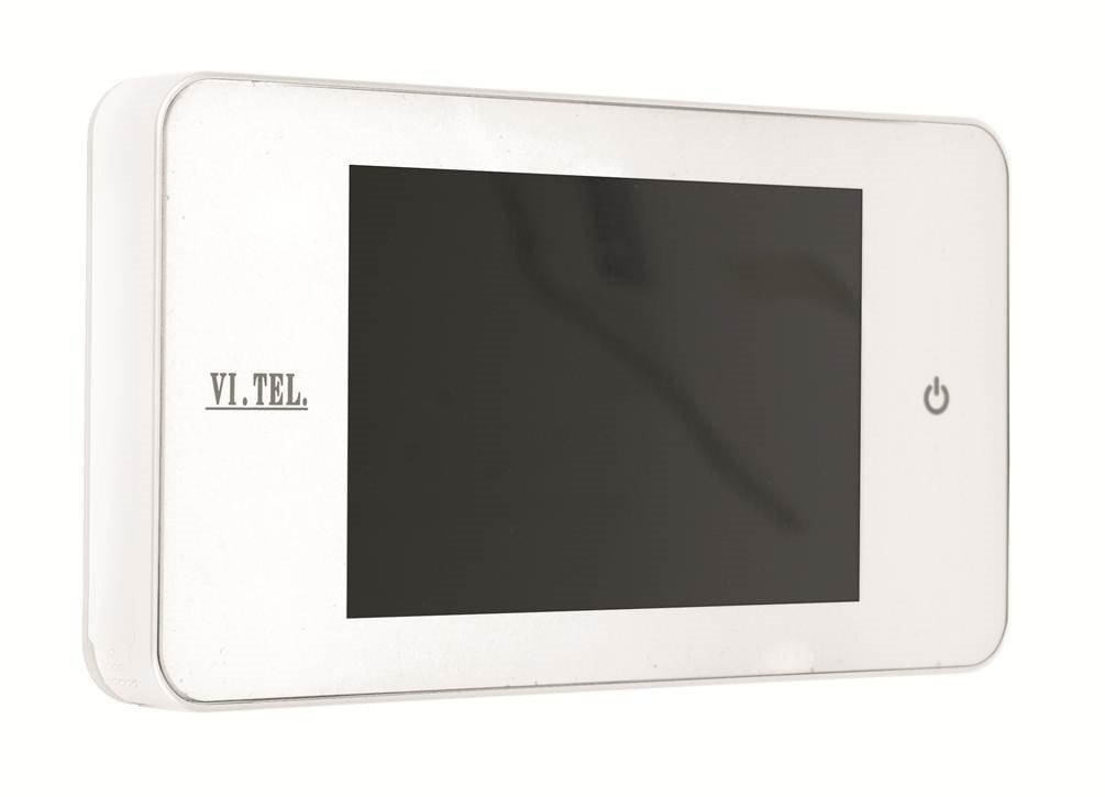 Vi.Tel. E0378 60 Spioncino Digitale, Bianco, 4' 4