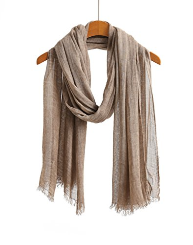 WS Natural Scarf / Shawl / Wrap Men and Women Linen Feel Scarves
