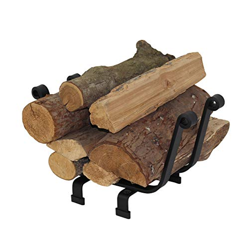 Black Fireplace Basket - Enclume LR9 BKT Premier Basket Fireplace Log Rack, Black, Black