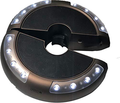Treasure Garden - 9 ft Auto Tilt Umbrella (Speak LED Luna Light) (Furniture Luna Garden)