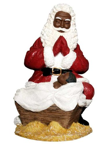 Santa Worships Jesus Figurine
