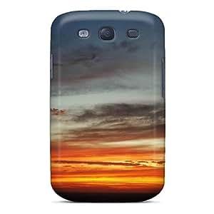 NikRun Slim Fit Tpu Protector AMFut5071zEBPb Shock Absorbent Bumper Case For Galaxy S3