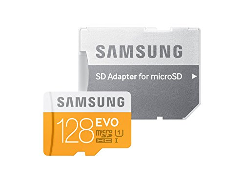 Samsung 128GB EVO Class 10 Micro SDXC Card with Adapter up to 48MB/s (MB-MP128DA/EU) 5 Up To 48Mb/S Transfer Speed Great For Cell Phones, Smartphones, Android Tablets, Tablet Pcs Great Speed And Performance For Full Hd Video Recording, High Resolution Pictures, Mobile Gaming, Music And More