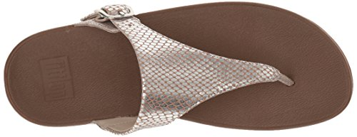 Loafer Skinny Women's Leather Snake Flop Flip fitflop Silver nXqSwP5XZ