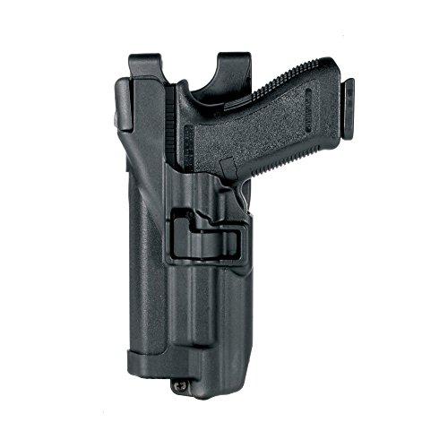 (BLACKHAWK! Level 3 SERPA Light Bearing Auto Lock Duty Matte Finish Holster, Size 00, Left Hand, (Glock 17/19/22/23/31/32))
