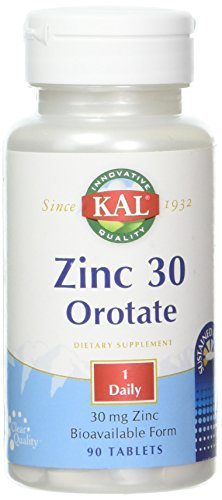 Zinc Orotate Sustained Release 30 mg Kal 90 Tabs