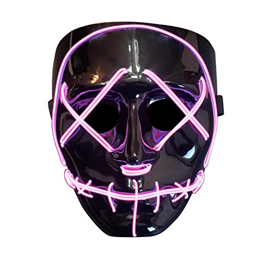 Trippy Lights The Original LED Light Up Election Year First Purge Halloween Movie Mask
