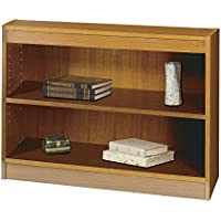 Safco Products 1501MOC Square-Edge Bookcase, 2 Shelf, Medium Oak