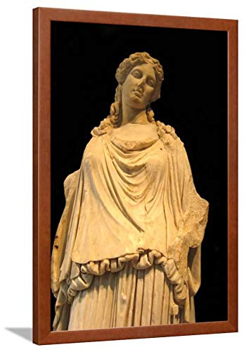 (ArtEdge Eirene, The Godess of Peace (Roman Copy from a Greek Origina), H. 1st C Ad Brown Wall Art Framed Print, 30x20,)