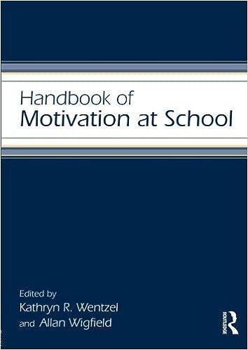 handbook of motivation at school educational psychology handbook