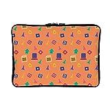 DKISEE Monopoly Pattern 4 Neoprene Laptop Sleeve Case Waterproof Sleeve Case Cover Bag
