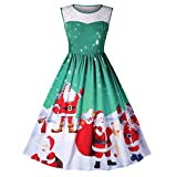 Fashion Women Lace Vintage Christmas Santa Claus