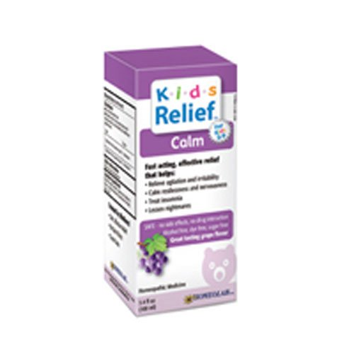 Homeolab USA Kids Relief Calm Syrup, With Calming Effect Grape Flavor- 3.4 oz (Pack of 3) ()
