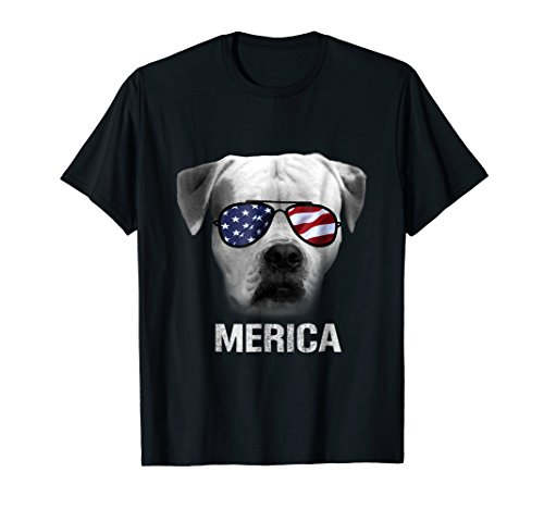 American Bulldog Merica t-shirt - Patriot Patriotic