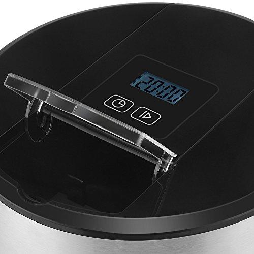 Flexzion Ice Cream Maker Frozen Yogurt Sorbet Gelato Maker Machine with Digital Timer - Automatic Electric Easy Pour Spout 3 Pints