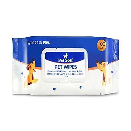 Toallitas de aseo para perros y gatos, limpieza y desodorización higiénica, paquete de 100: Amazon.es: Productos para mascotas