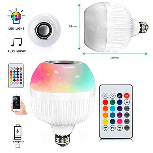 LED inteligente Música foco RGB E27altavoz Bluetooth inalámbrico luz colorida mando a distancia reproductor de audio