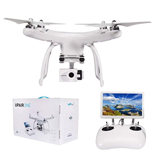 UPair One Drone with Camera 4K HD Video Camera, Quadcopter HD Camera and GPS Live View, Camera Live Video and GPS Return Home Quadcopter, Follow Me, Altitude Hold, Aerial Photography Beginner Drone
