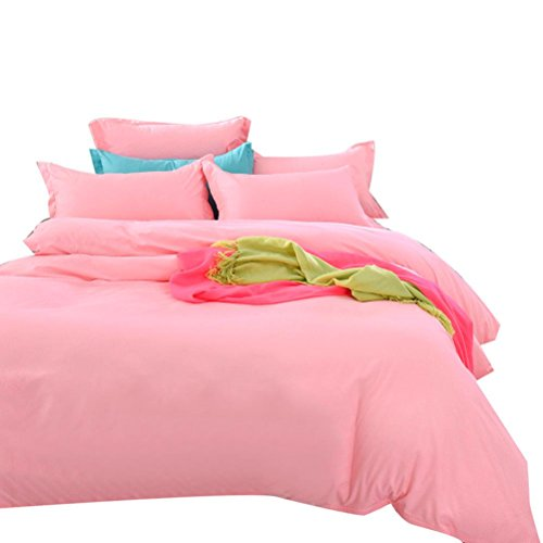 Twin Hugger Comforter Set (Ikevan Home Textiles Bed sets Sheet Breathable and Luxuriously Soft Duvet Cover+ Flat Sheet +Pillowcases (Twin Size))