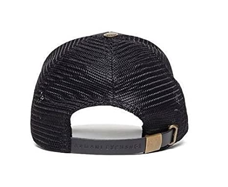 Amazon.com: Armani Exchange Brand New with Tags Leather Patch Baseball Hat: Clothing