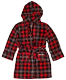Calvin Klein Boys' Big Robe Hood, Cozy Buffalo